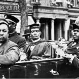 Marcus Garvey in military regalia in Harlem parade. James Van Der Zee - photo