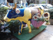 Deko-Kuh im italienischen Gässchen