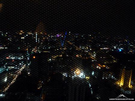 Ein grandioser Ausblick aus unserem Zimmer im 64. Stock!