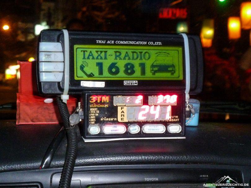 Knapp fünf Euro für eine 38km Taxifahrt