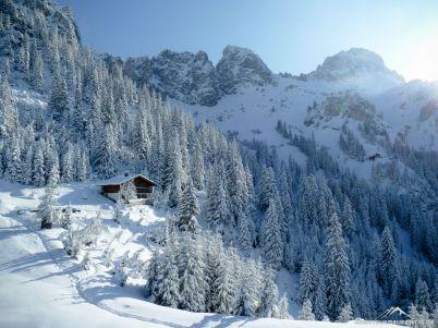 Schön anzusehen aber zum Klettern, das Winter-Wonderland im Tannheimer Tal