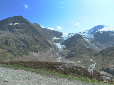 Ein toller Ausblick auf den Steingletscher.