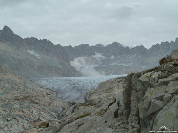 Toller Ausblick auf den Gletscher.