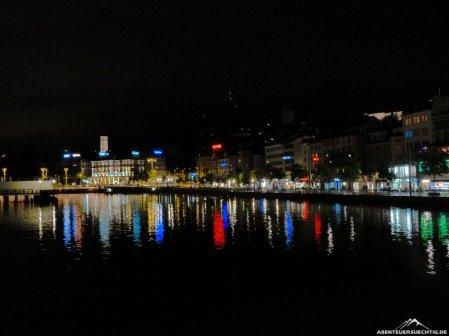 Zürich bei Nacht.