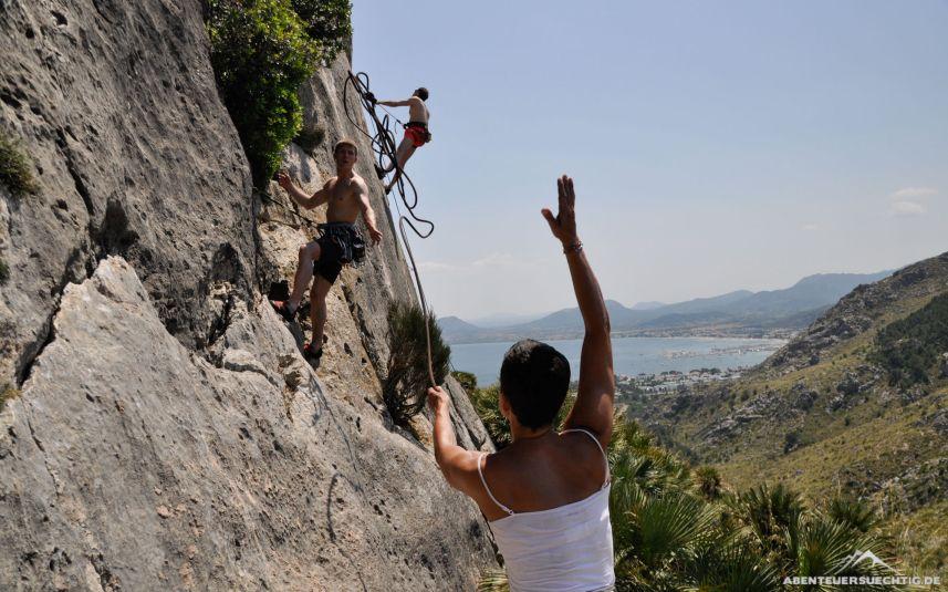 Klettern in La Creveta (Mallorca)
