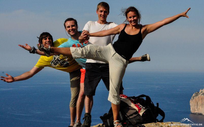 Tobi, Flo, Chris und Isa