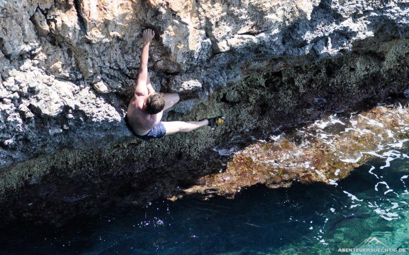 Deep Water Soloing auf Mallorca