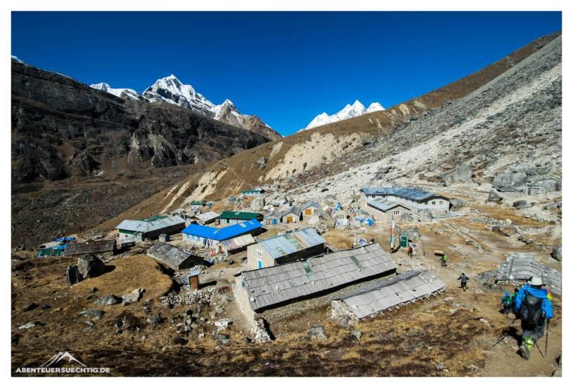 Das Dörfchen Khare auf 4.850 m Höhe