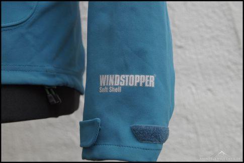 Das Material: GORE Windstopper Soft Shell