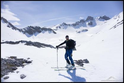 Gute Laune! Robert auf seiner leider erst zweiten Skitour der Saison.