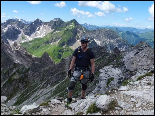 Dennis unterwegs auf dem Mindelheimer Klettersteig