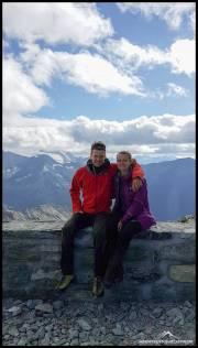 Elena und Dennis auf der Cabane de Tracuit