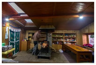 Küche in der letzten Lodge