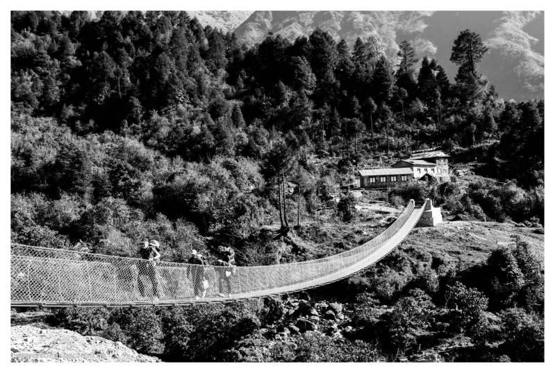 Hängebrücke nach Lukhla