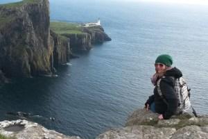 Maike auf der Isle of Skye
