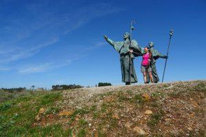 Wandern auf dem Jakobsweg in Spanien