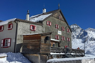 Übernachtung in Berghütte bei der Alpenüberquerung auf dem E5