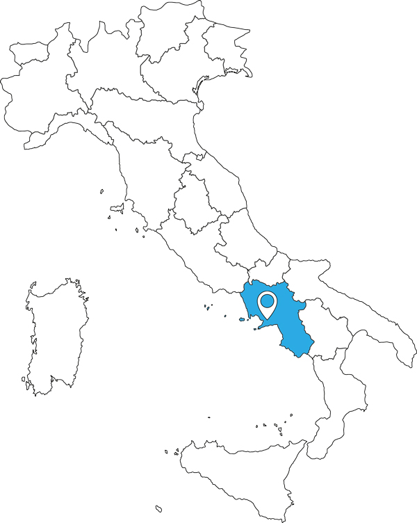 Karte von Italien - Amalfiküste