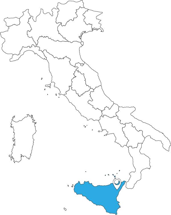 Karte von Italien - Sizilien & die Liparischen Inseln