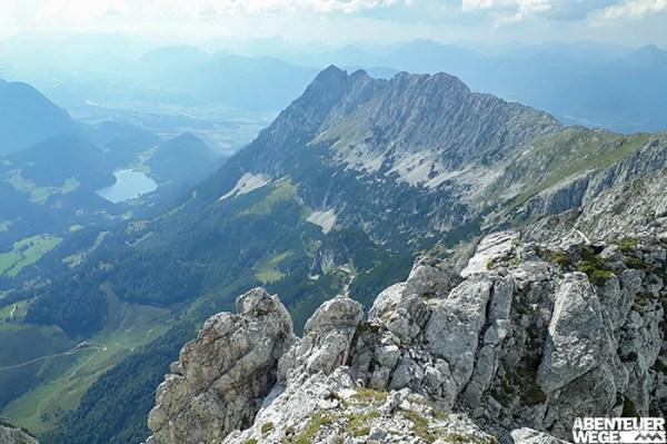 Herrliche Ausblicke von den Gipfeln...
