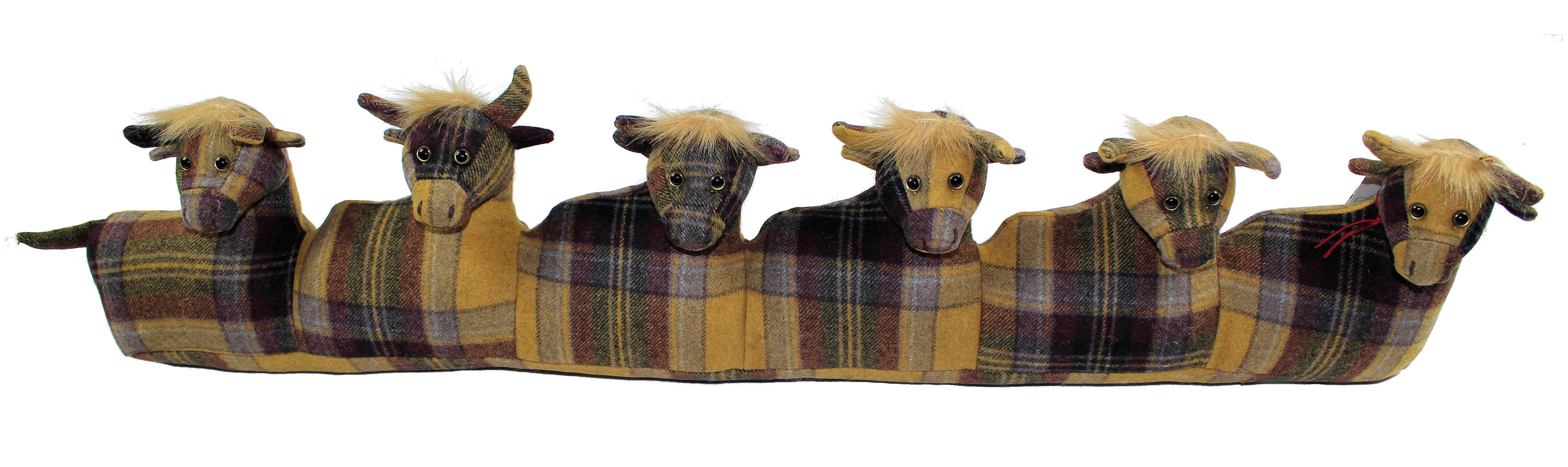 Angus Highland Cow Dora Designs Draught Excluder From The