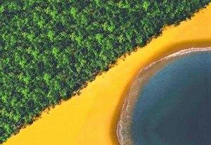 praia com a bandeira do brasil verão moda praia aberbeach
