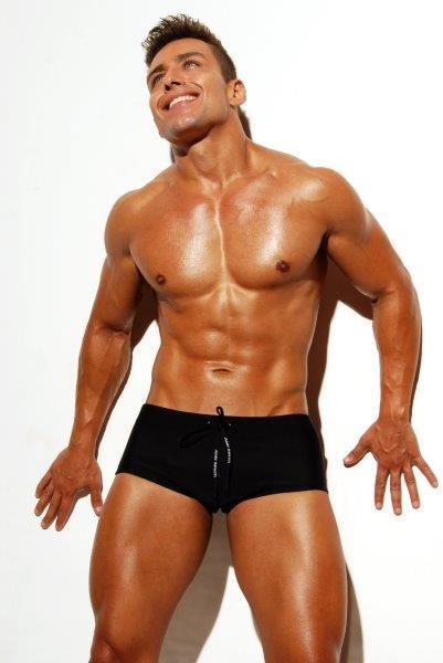 sungão de praia preta Aberbeach moda praia masculina Brazilian Sunga