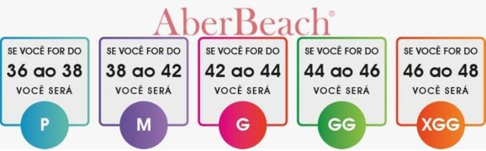 tamanho certo da sunga de praia tabela de medidas Aberbeach