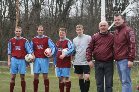 Keith Webster, Craig McHattie, Ian Lowe, Andy Deans, Jim Westwood and Stuart Hale