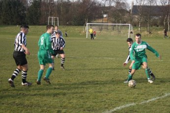 Jamie Reid for Hazlehead was a constant menace for the Scotstown defence