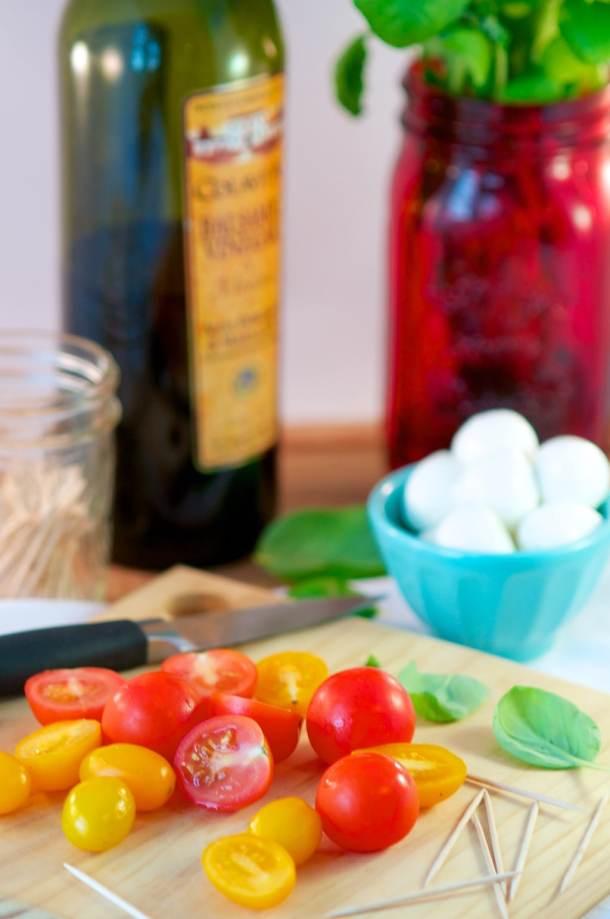Caprese Salad Raw Ingredients