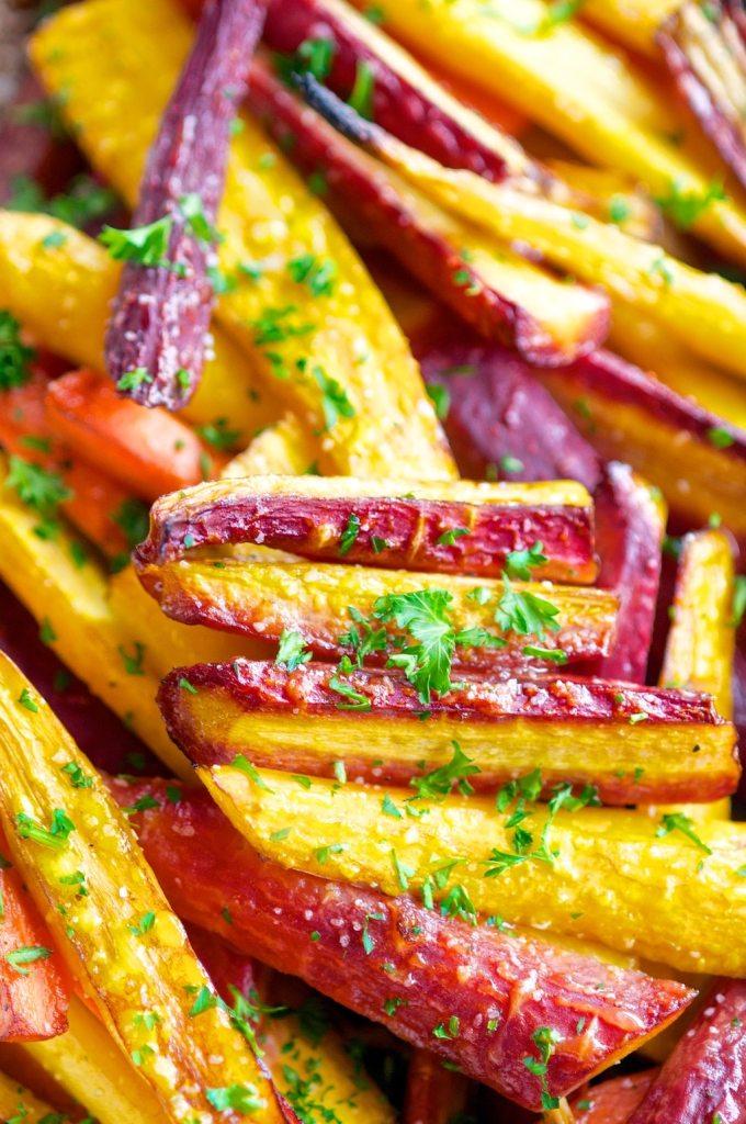 Balsamic Honey Glazed Rainbow Carrots