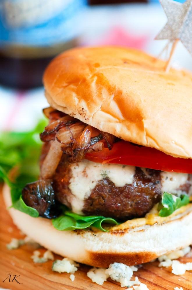 July 4th Blue Cheese Burger