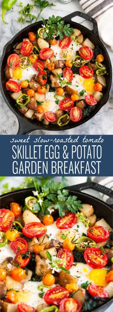 Skillet Eggs and Potato Garden Breakfast