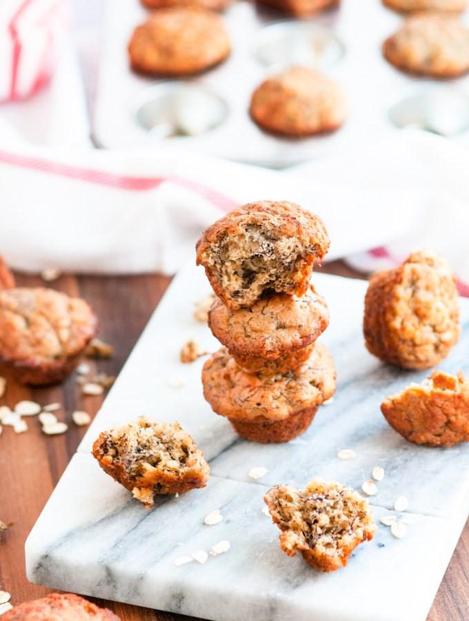 Mini Banana Oat Muffins