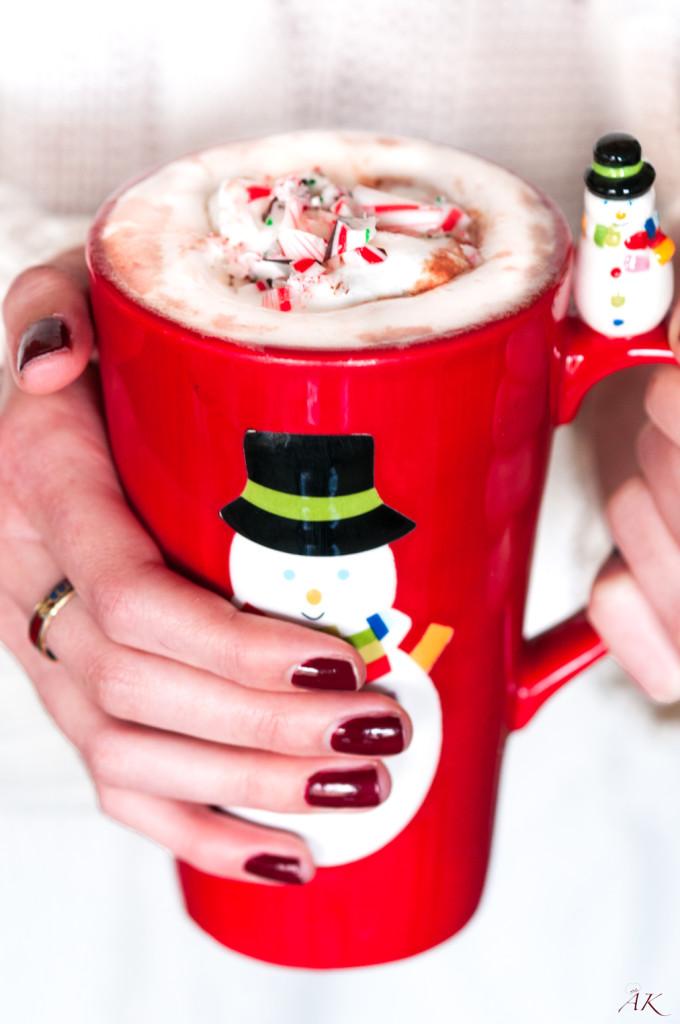 Homemade Peppermint Vodka Hot Chocolate
