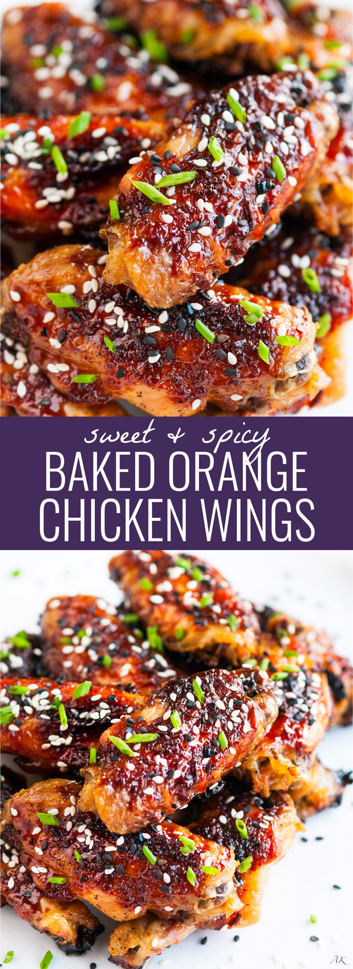 Sweet and Spicy Baked Orange Chicken Wings - Aberdeen's Kitchen
