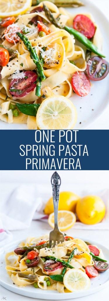 One Pot Spring Pasta Primavera