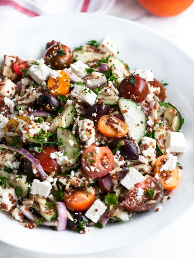 Quinoa Orzo Greek Salad