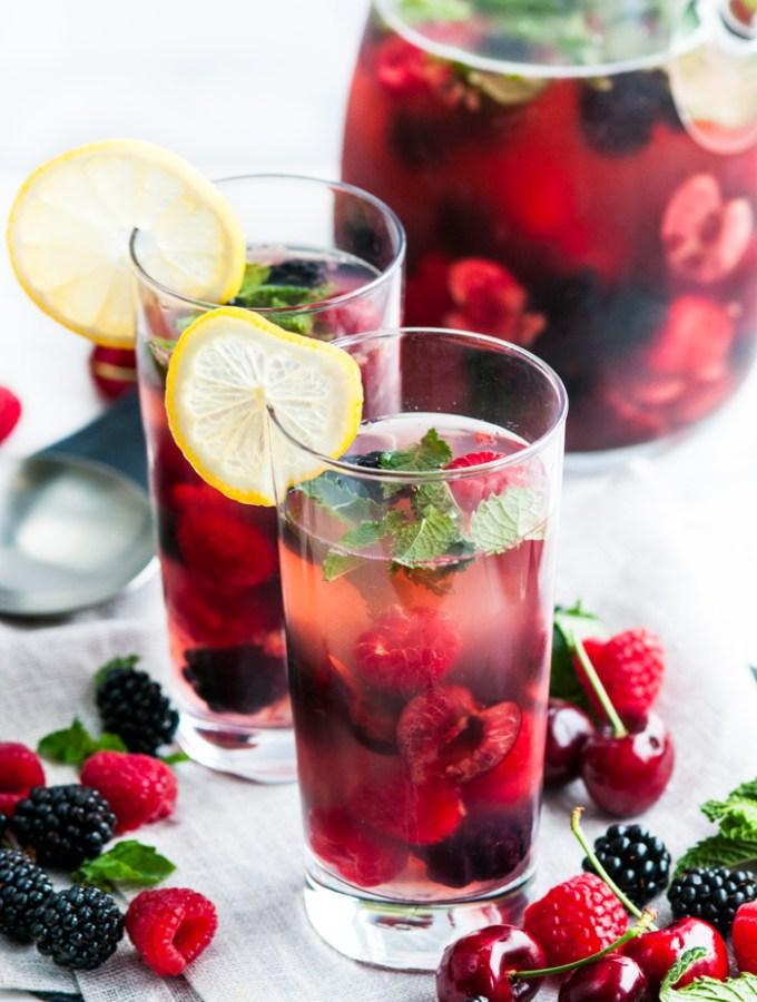 Mint Cherry Berry Summer Sangria