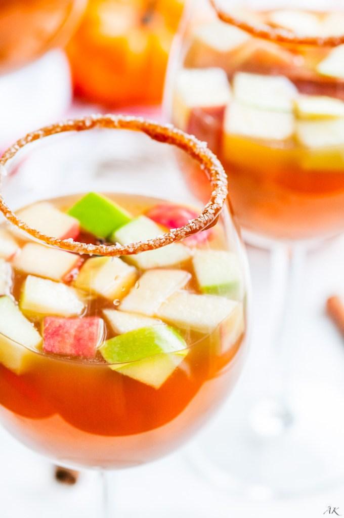 Salted Caramel Boozy Apple Cider | aberdeenskitchen.com