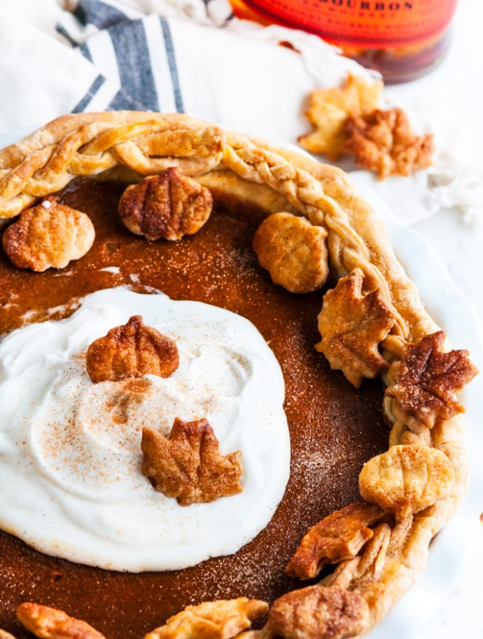 Bourbon Buttermilk Pumpkin Pie