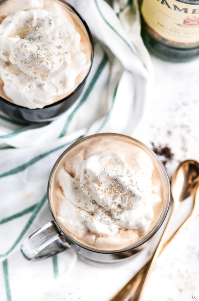 Irish Coffee with Baileys Whipped Cream | aberdeenskitchen.com