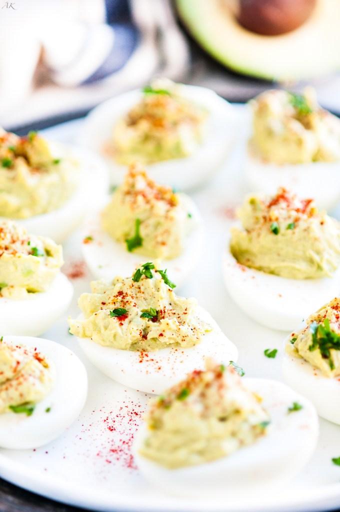 Guacamole Deviled Eggs | aberdeenskitchen.com