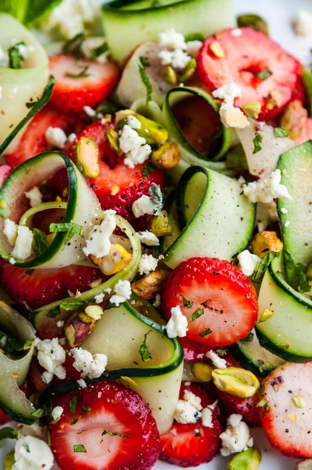 Strawberry Cucumber Pistachio Salad | aberdeenskitchen.com