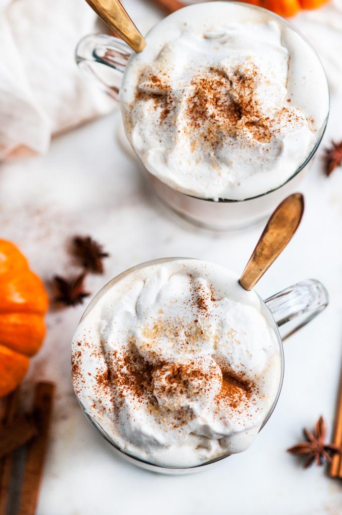 Pumpkin Spice Chai Tea Latte | aberdeenskitchen.com