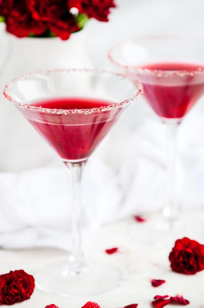 Raspberry Lemon Drop Cocktail | aberdeenskitchen.com