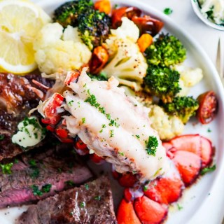 Surf and Turf Steak and Lobster Tail   aberdeenskitchen.com