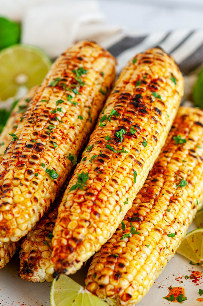 Grilled Chili Lime Honey Butter Corn on the Cob