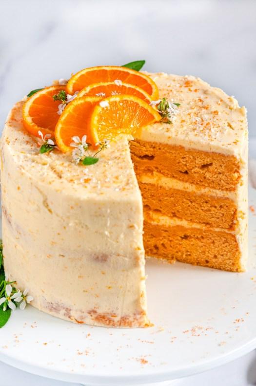 Orange Cake with Zesty Cream Cheese Frosting - Aberdeen's Kitchen